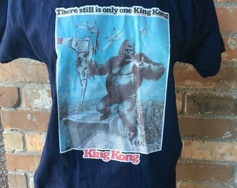 Vintage Movie Promo King Kong T-shirt There is Still Only One King Kong