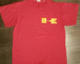vintage 50/50 red kawasaki t-shirt