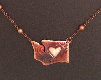 My heart is in Washington Necklace