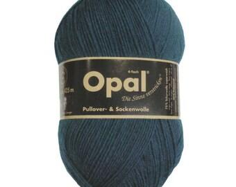 Opal Sock Yarn Uni Solid, 100g/465 yds, #5187 Blue Petrol