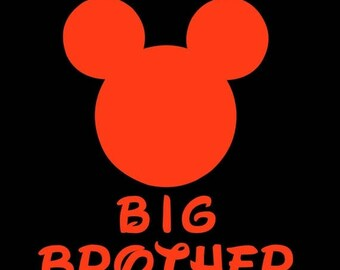 SALE Mickey Mouse Big Brother SVG JPEG instant digital file download for vinyl cutters