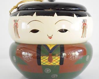 Vintage Japan Bento Box Kokeshi