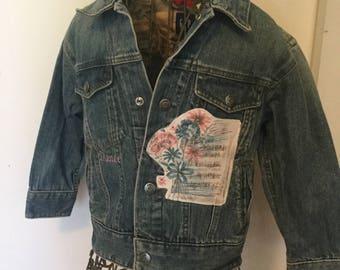 Girls Vintage Ballerina Denim Jacket w/ Dance Embroidery, 4/5