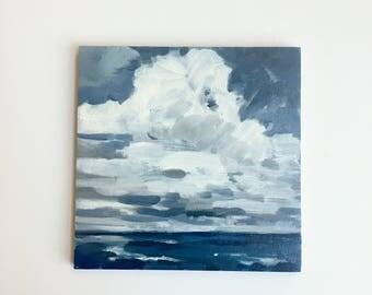 "Breakers • original oil painting 6x6"""