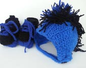 Custom Listing for Mohawk Hat, Roller Booties, and a Diaper cover.