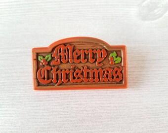 Vintage Merry Christmas Hallmark Pin