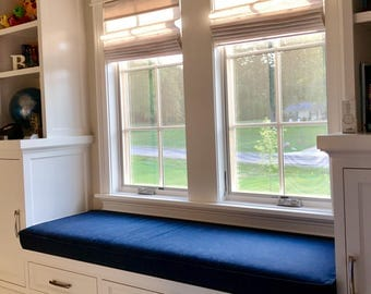 "Window Bench Seat Cushion Cover,74"" x 23.5"" x 4"",Includes Piping and Zipper,Your Fabric Selection,You Pay Shipping. Made to Order"