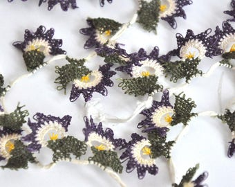 38 handmade  OYA Needle Lace Sun Flower DIY project trim