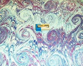 marbled paper,  cm 35 X  50  .carta marmorizzata,    929
