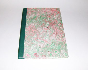 Marbled paper  Journal  pages 96 Ivory Favini paper. Hand bounded Florentine style -   cm 20 x 30.  1001A