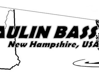 Haulin Bass Custom Fishing DECAL Vinyl Car Decal Fish Sticker