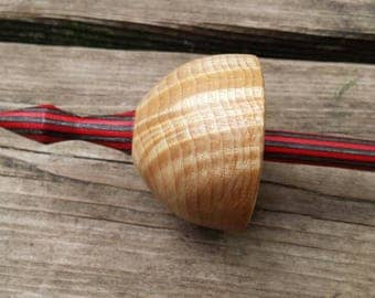 curly maple  drop spindle  / supported spindle  id#49m401
