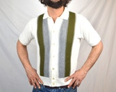 Vintage 60s Striped Sweater Top Shirt -Ted's Men's Wear - Long Beach California