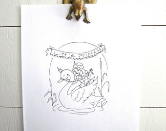Princess Embroidery PATTERN, Princess Embroidery Kit,Instant Download PDF,Hand Embroidery Pattern,Printable Stitching Pattern,