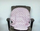 high chair pad, Duodiner Graco or Graco Blossom, baby accessory replacement pad, kids furniture high chair cushion chair pad, pink and gray