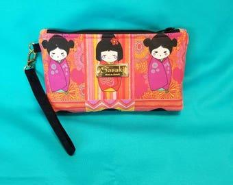 Kokeshi Doll Wristlet - iPhone 6+, Samsung 8+