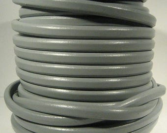 Regaliz Licorice Leather - Light Grey - R35 - Choose Your Length
