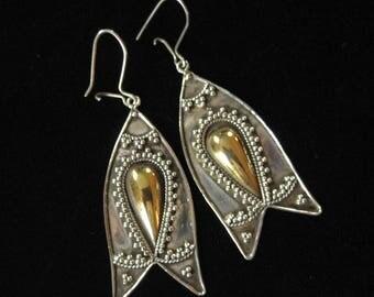 Vintage Bali Sterling Earrings