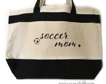 Soccer Mom Tote Girl Mom Mom Life The Best Life Gift For Mom From Kids Mama Mothers Day Christmas Birthday Blessed Forever