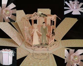 Wedding Exploding box TF0182,SVG,MTC,Cameo,Cricut,ScanNCut