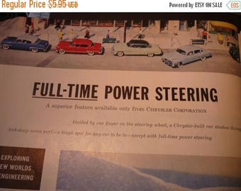 ON SALE Vintage Ad - Chrysler Full Time Power Steering - - Classic Car Ad from 1950. Original ad