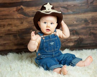 Baby Cowboy Outfit -  Baby Cowboy Boots - Cowboy Toddler Outfit - Cowboy Hat - Cowboy Boots - Cowboy Baby Girl Outfit - Brown Cowboy Hat