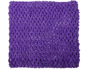 "child adult teen Crochet tutu top elastic tube 1-16 years DIY flower girl wedding dress birthday costume purple 6"" 7"" 8"" 10"" 12"" 14"""