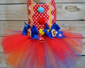 Dog Costume - Halloween - Clown - Tutu Harness Dog Dress - Pet Costume - Small Dog Costume - READY TO SHIP - Cat Costume