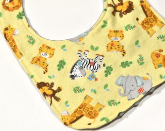 Animal Baby Bib Baby Shower Gift, Infant Bib, Unisex Bib, Baby Accessories, Cute Animals