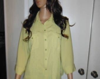 Womens Lime Green Shirt --Sz Med -- 20-70% off SALE