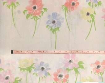Queen Vintage Fitted Sheet with Pastel Flowers