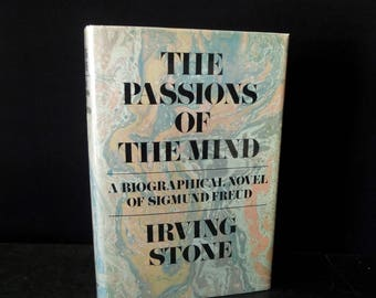 Signed by Author Irving Stone Sigmund Freud Book - Passions of the Mind 1971  First Edition