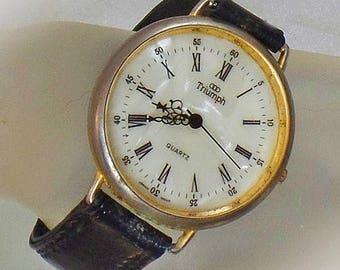 SALE Vintage Triumph Watch. Men's Triumph Watch. Gold Triumph Watch.