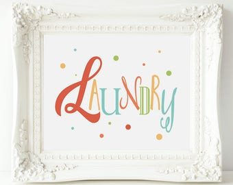 Laundry Room Sign, Wall Decor Laundry, Colorful Laundry Room Art, Laundry Wall Decor, Laundry Room Idea, Laundry Room Art Print, Laundryroom