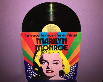 Rare Vinyl Record The Voice, The Music of the Films of Marilyn Monroe LP 1974 Italian Press