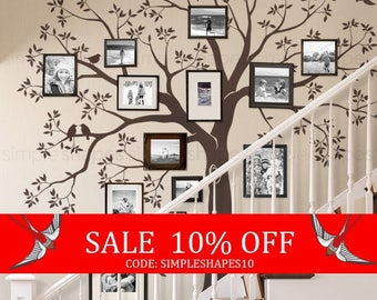 Summer Sale - Staircase family Tree Wall Decal  Tree Wall Decal Sticker
