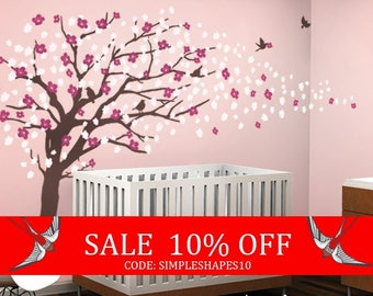 Summer Sale - Vinyl Wall Art Decal Sticker - Cherry Blossom Tree - Elegant Style - LARGE