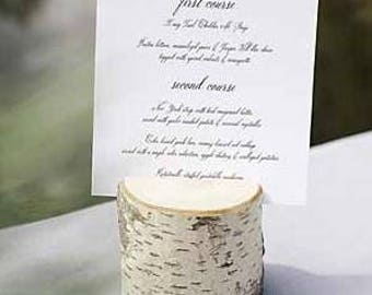 10 Large Birch Table Number Holders Country Outdoor Natural - Eco Friendly - Woodsy - Rustic Elegant - Wedding Centerpiece