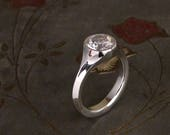 Custom for Amanda - Geometric Low-Profile Solitaire