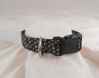 Tiny Paw Print Collar, Masculine Dog Collar, Dog Collar, Breakaway Cat Collar, Collier de chien, collar de perro,