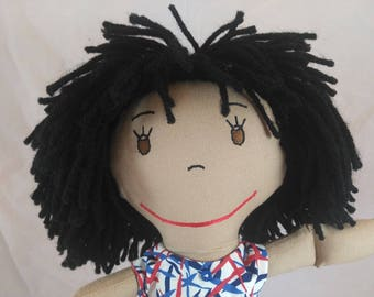 Snuggly Rag Doll, Rag Dolls, Multi_racial Doll, Cloth Doll, Plush Toy, Soft Doll, Fabric Doll, Stuffed Doll