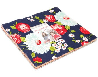 """The Good Life Layer Cake by Bonnie & Camille for Moda Fabrics 42 10"""" Fabric Squares"""