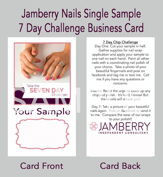 Jamberry 7 Day Challenge Business Card Template
