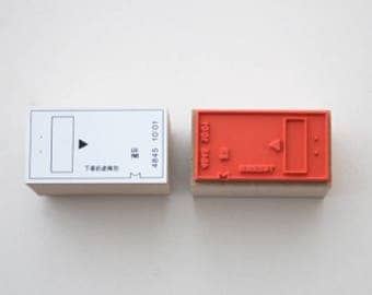 New-Japanese Train Ticket Wooden Rubber Stamp for Journaling, Scrapbooking, Packaging