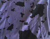 Blue and Black Vintage Esprit Cotton Scarf Bandana, Retro Scarf, Eighties Accessory