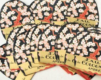 10 labels,for collage sheet,scrapbooking, old french paper, eau de cologne
