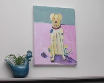 "painting - original - ""Fetch"" - original acrylic painting - home decor"