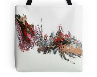 Day of the Dragon Original Fluid Acrylic Art L, M or S Tote Bag, Printed on Both Sides!
