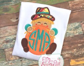 Boys Scarecrow Shirt, Boys Fall Scarecrow Shirt, Custom Scarecrow Shirt
