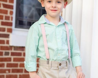 Suspenders PDF Sewing Pattern, Easter Outfit Pattern, Easy Boys Pattern, Boys Clothing, Sewing Tutorial, Easy PDF Pattern, 3m-10